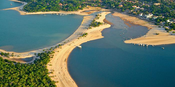 Vista Aérea da Ilha do Amor, Alter do Chão, Santarém, Pará 005 - Mundo Gekos Receptivo