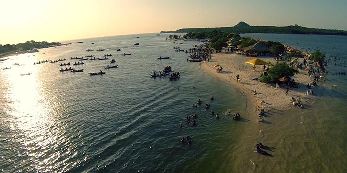 Vista Aérea da Ilha do Amor, Alter do Chão, Santarém, Pará 004 - Mundo Gekos Receptivo